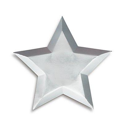 Prato prata Estrelas - Meri Meri (8 unidades - 27 cm)
