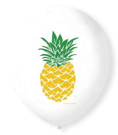 """Balão São Roque 9"""" - Abacaxi (UNIDADE)"""