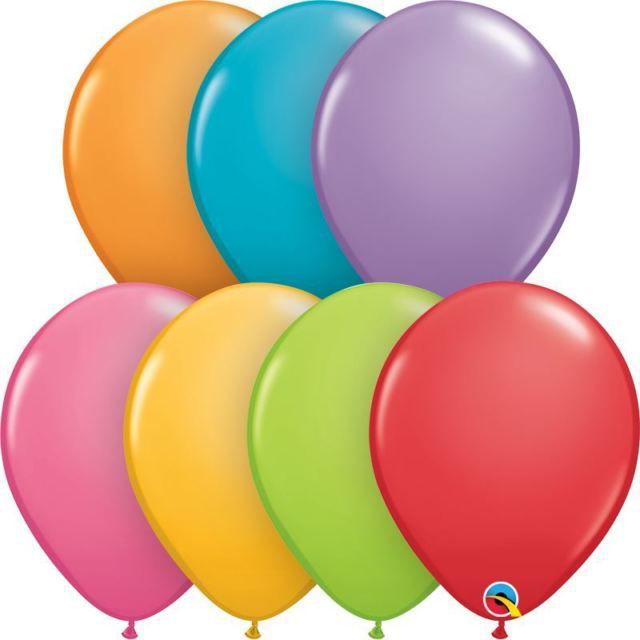 """Balão látex sortido 11"""" - Festivo 7 cores (7 unidades)"""