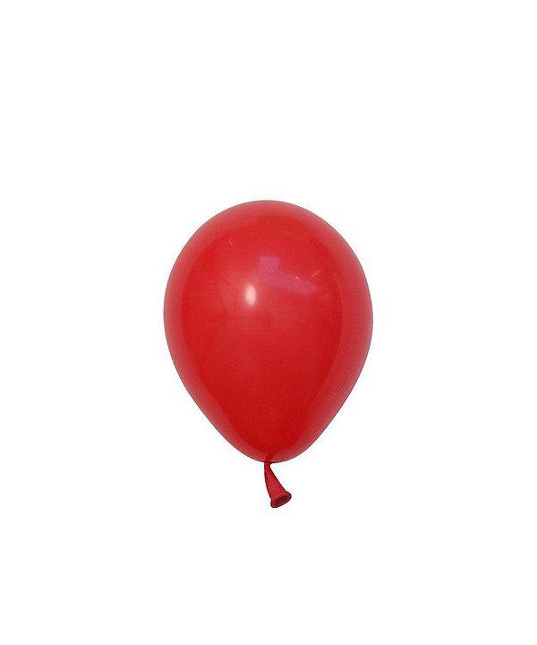 """Mini balão látex 5"""" - Vermelho (unidade)"""
