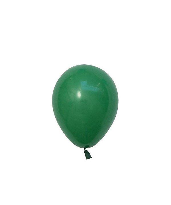 """Mini balão látex 5"""" - Verde (unidade)"""