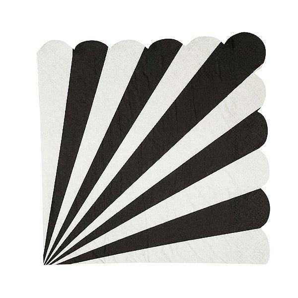 Guardanapo de papel Preto - 33cm (20 unidades)