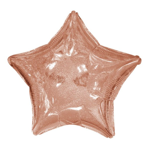 """Balão 20"""" Estrela Rose Gold - 50 cm (unidade)"""