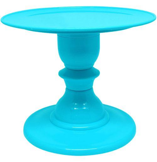 Boleira com pé torneado - Azul Tiffany