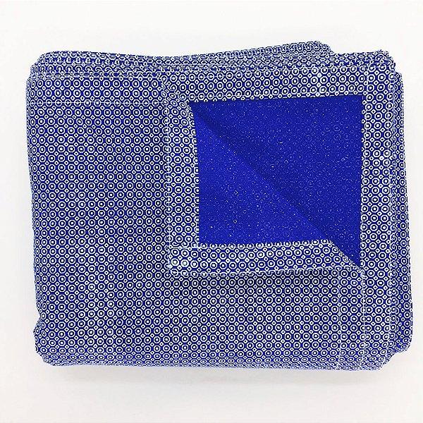 Toalha de mesa  - Azul e branco (1,5 x 3 metros)