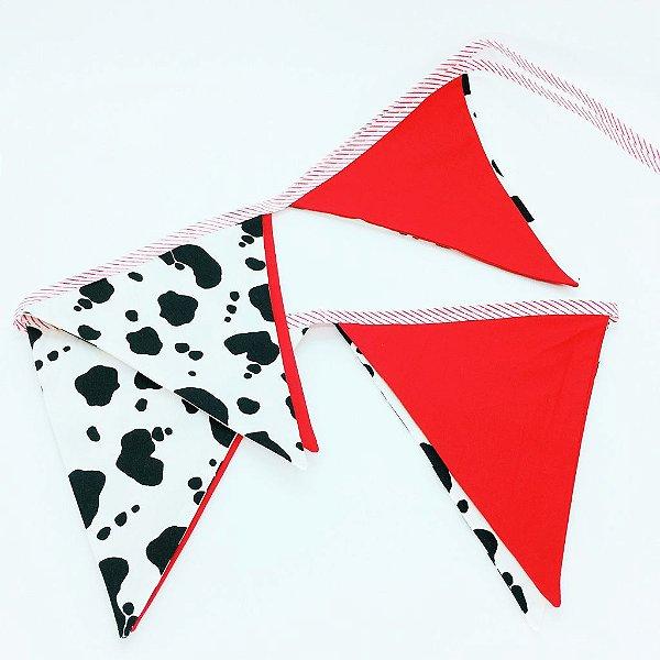 Bandeirola de tecido - Malhado e Vermelho (8 un)