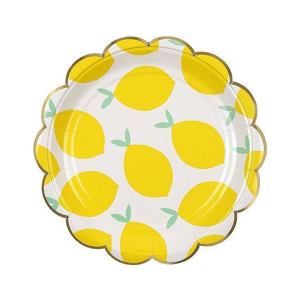 Pratos de papel Limão - Meri Meri (8 un)