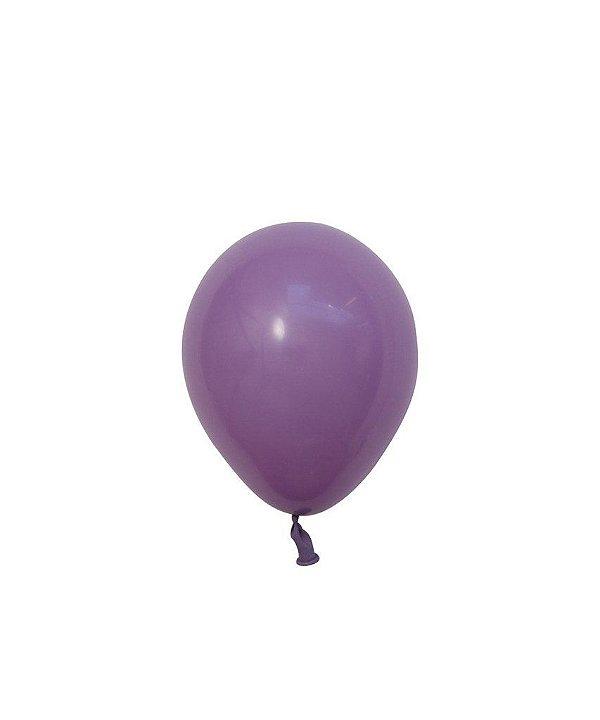 "Mini balão látex 5"" - Lilás (unidade)"