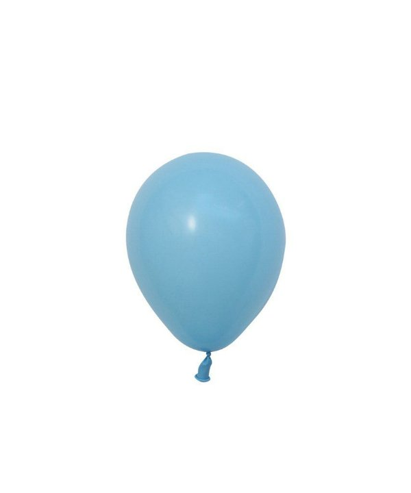 """Mini balão látex 5"""" - Azul Claro Perolado (unidade)"""