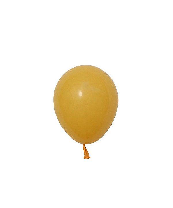 """Mini balão látex 5"""" - Amarelo Ouro (unidade)"""