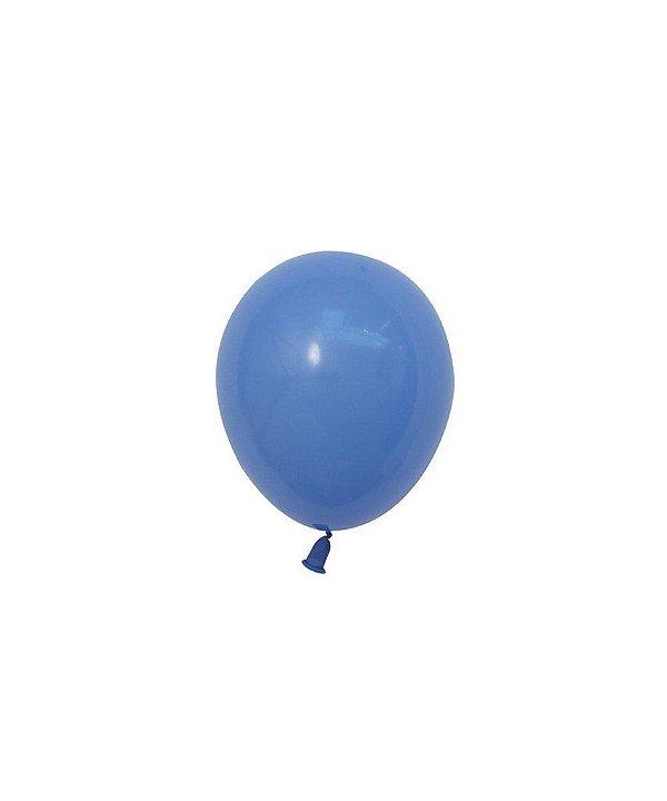 """Mini balão látex 5"""" - Azul Lavanda (unidade)"""