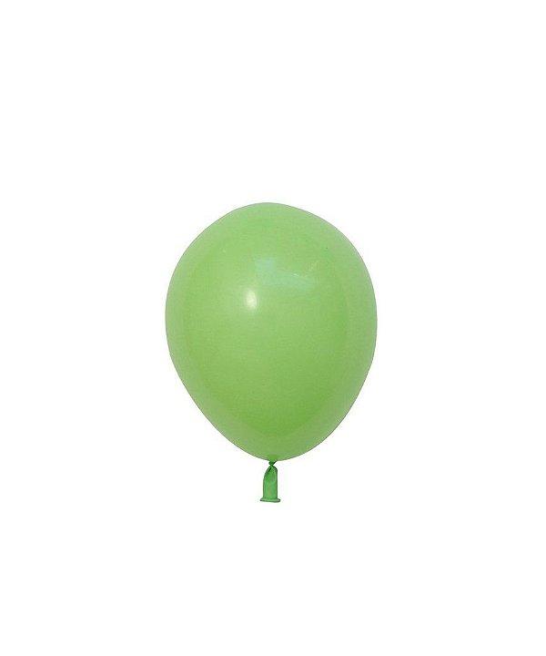 """Mini balão látex 5"""" - Verde lima (unidade)"""