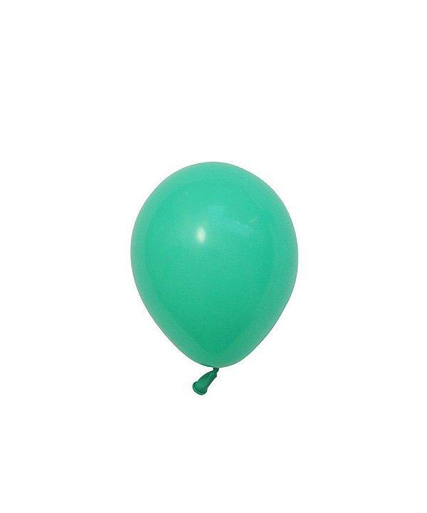 """Mini balão látex 5"""" - Verde Inverno (unidade)"""