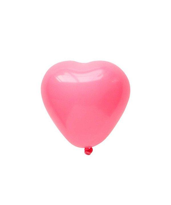 """Mini balão Coração 6"""" - Rosa (1 unidade)"""