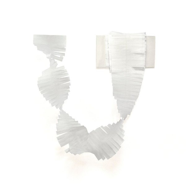 Cauda / Franja para balão - Branco (5 cm x 3 metros)