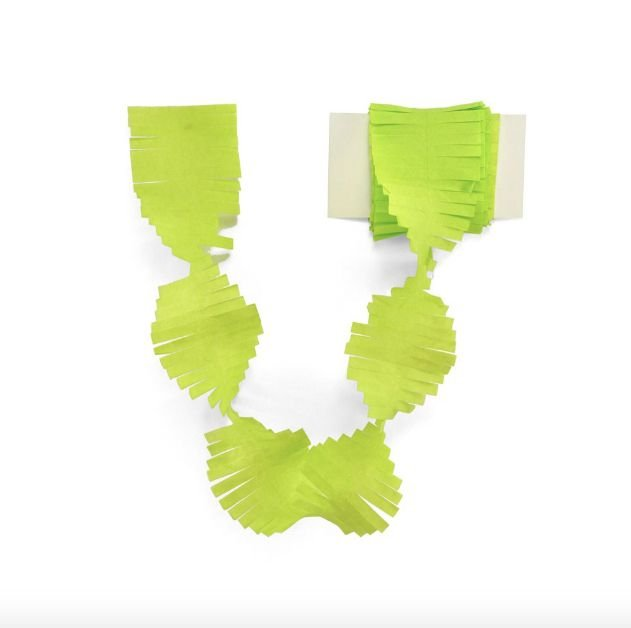 Cauda / Franja para balão - Verde limão (5 cm x 3 metros)