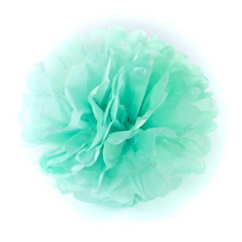 Flor papel Seda - Verde Menta 35 cm (flor vendida fechada)