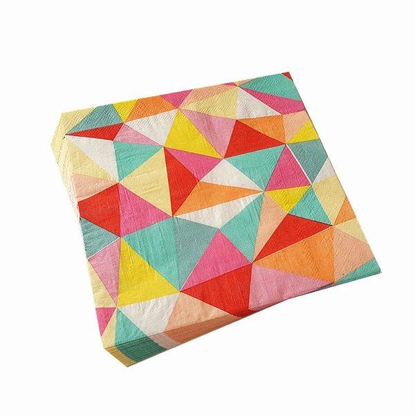 Guardanapo de papel Geométrico - Colors (33cm - 20 unidades)