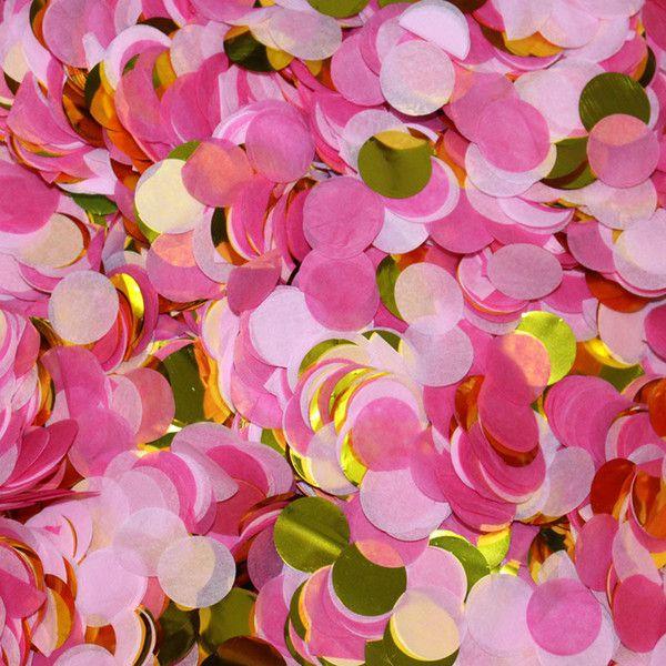 Mix confetes Rosa e Dourado - 1.5 cm (20g)