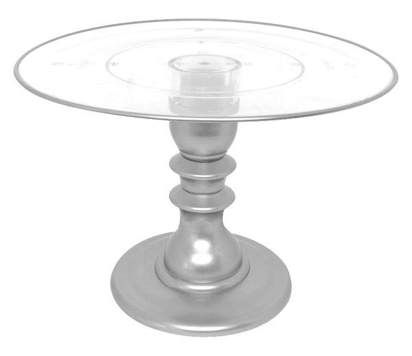 Boleira transparente Filete - Prata