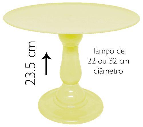 Boleira 23.5 cm altura - Amarelo Candy (escolha o tampo)