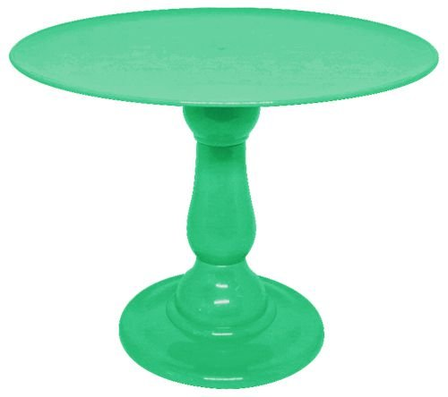 Boleira 23.5 cm altura - Verde (escolha o tampo)