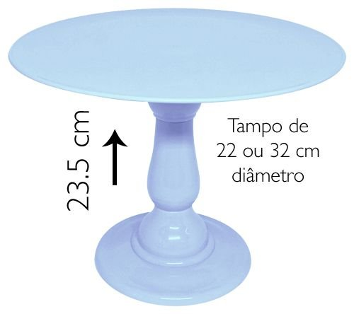 Boleira 23.5 cm altura - Azul Candy (escolha o tampo)