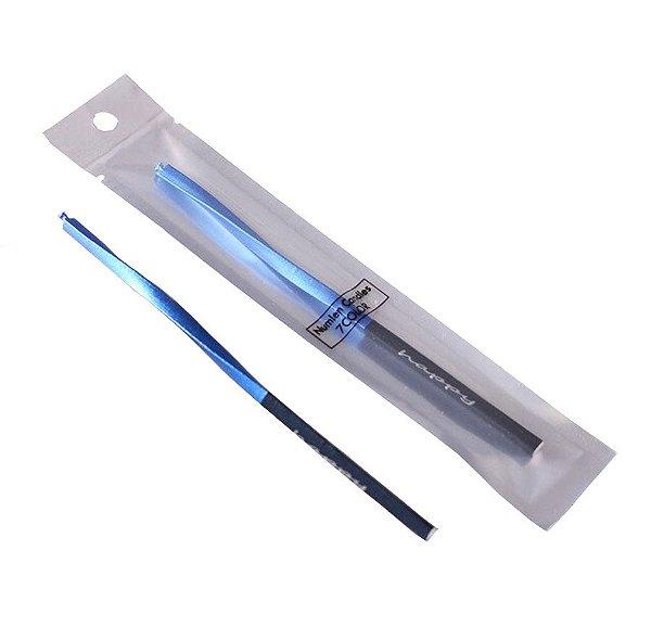 Vela metalizada torcida - Azul (14 cm - 1 unidade)