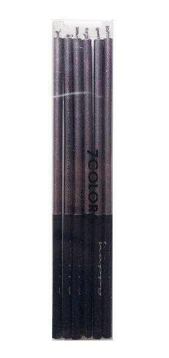 Vela palito metalizada - Cinza amendoado (14 cm - 6 unidades)