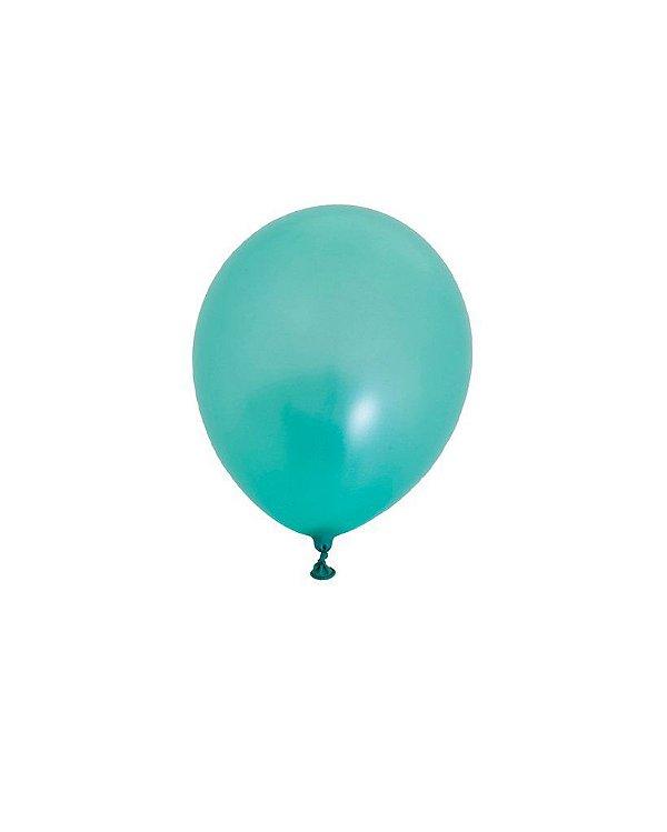 """Mini balão látex 5"""" - Verde Menta Perolizado (unidade)"""