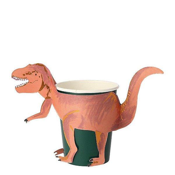 Copos de festa T-Rex  (8 unidades - Meri Meri)