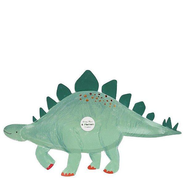 Prato de papel formato Estegossauro - Meri Meri (4 un - 47x28 cm)