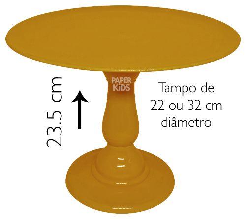 Boleira 23.5 cm altura - Mostarda (escolha o tampo)