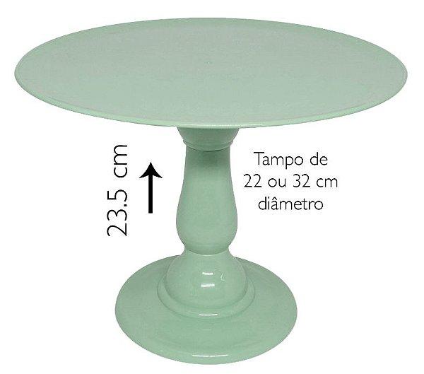 Boleira 23.5 cm altura - verde Neo Mint (escolha o tampo)