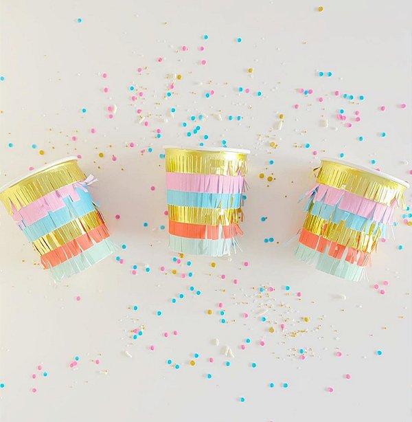 Copos de papel Franjas  (8 unidades - Meri Meri)