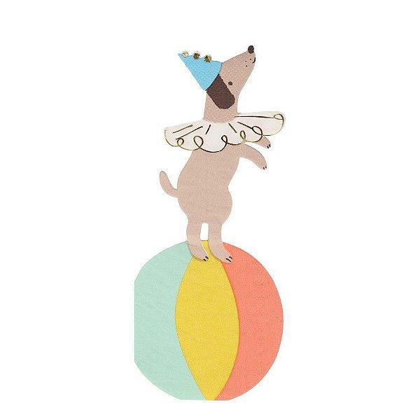 Guardanapo de papel Meri Meri - Cachorro de Circo (20 unidades)