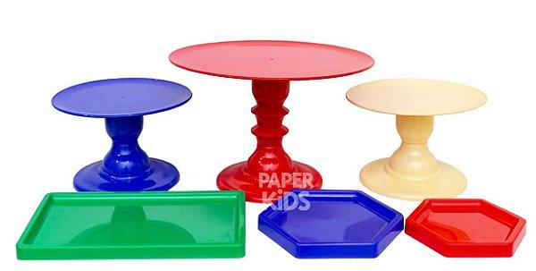 KIT 8 COMEMORE - Azul Bic / Vermelho / Amarelo Claro / Verde