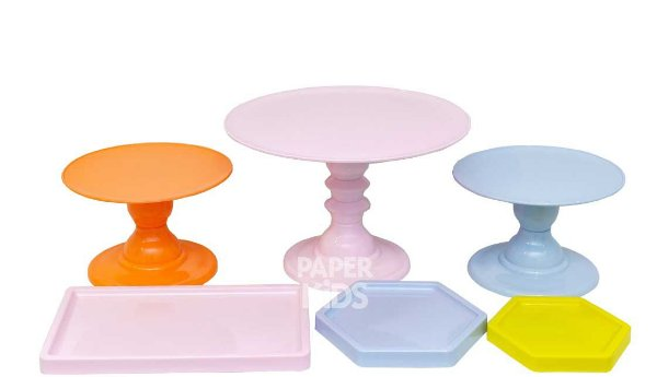 KIT 3 COMEMORE - Rosa Candy / Azul Candy / Papaia / Amarelo Neon