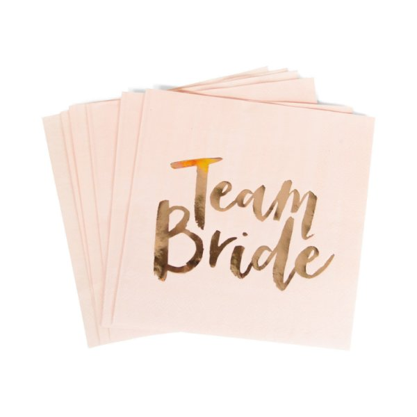 Guardanapo Team Bride (Foil Rose Gold) - 16 cm (20 unidades)