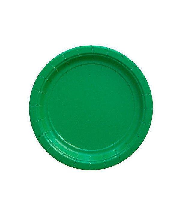 Pratinho de papel - Verde Bandeira 18 cm (10 un)