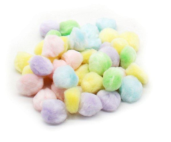 Pompom cores sortidas - Candy Colors (2.5 cm - 20 gramas)