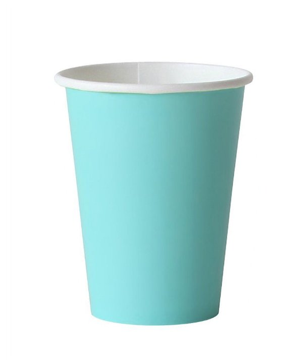 Copo de papel - Azul Piscina (10 unidades)