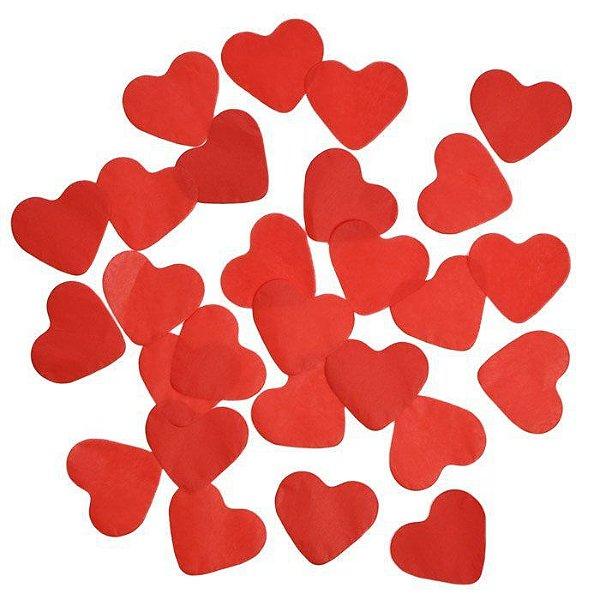 Confete de papel vermelho - Coração 3 cm (40g)
