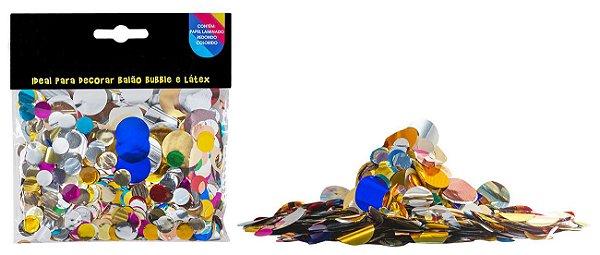 Confete bola metalizado - Mix Cores e tamanhos (25g)
