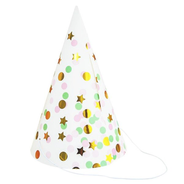Chapéu de papel - Star Light (10 unidades - 20 cm altura)