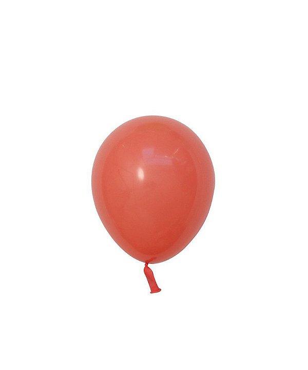 """Mini balão látex 5"""" - Coral (unidade)"""