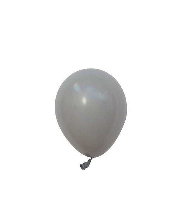 "Mini balão látex 5"" - Cinza (unidade)"