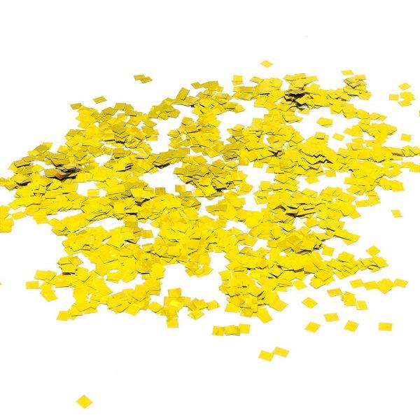 Confete metalizado - Quadrado Dourado (1 cm - 40g)