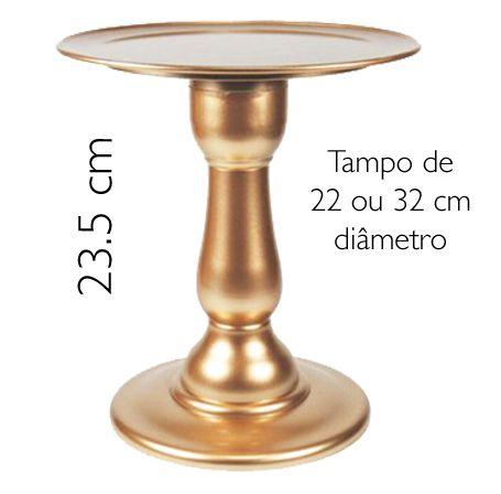 Boleira 23.5 cm altura - Rose Gold (escolha o tampo)