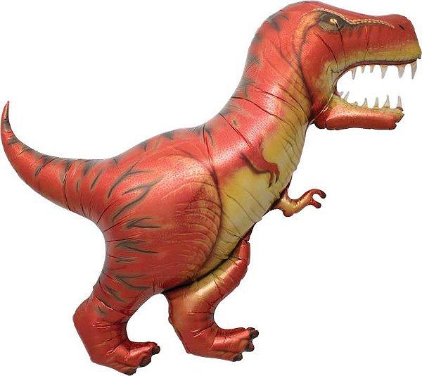 """Balão metalizado Dinossauros - T-REX 47"""" 74x53 cm (unidade)"""